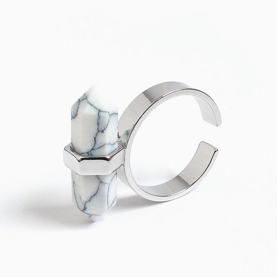 Spear Marble Ring | Silver