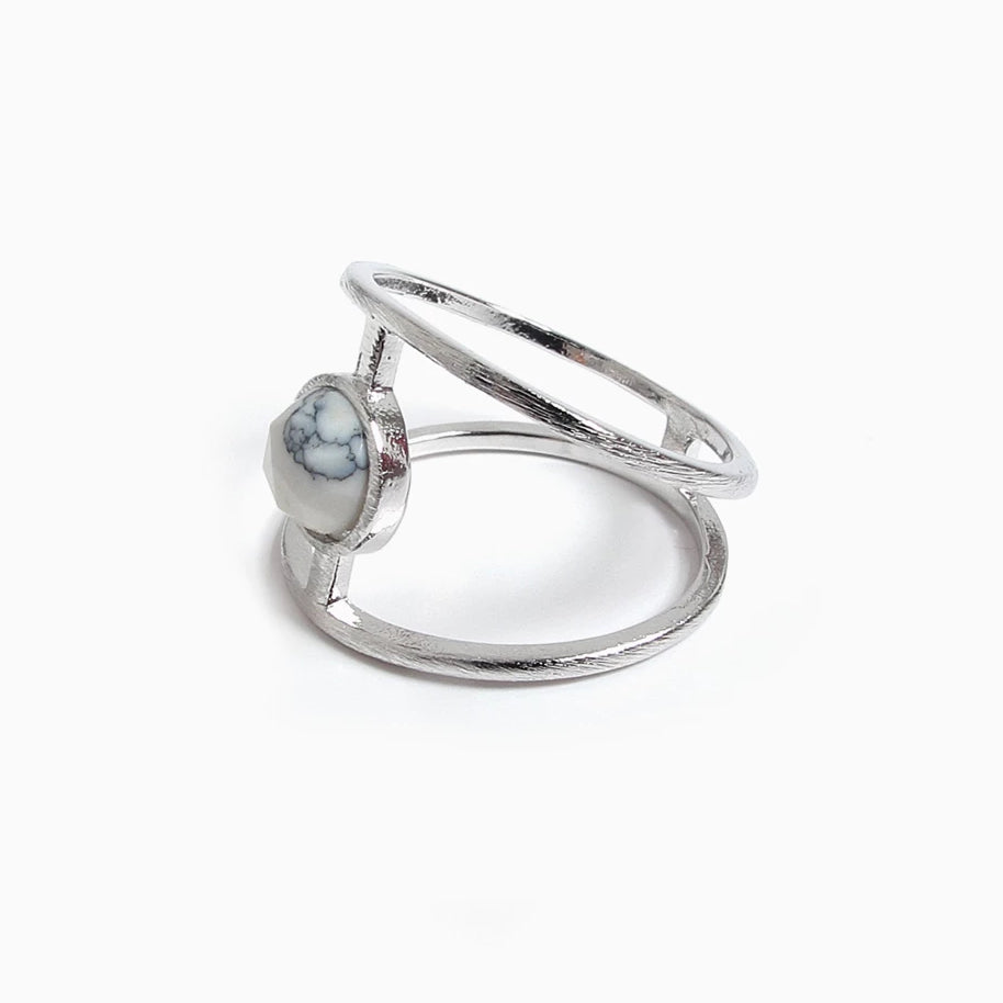Sigma Marble Ring (Silver)