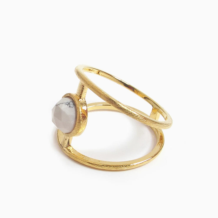 Sigma Marble Ring | Gold