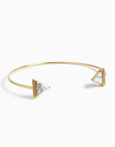 Tri  Marble Cuff (Gold)_Benique