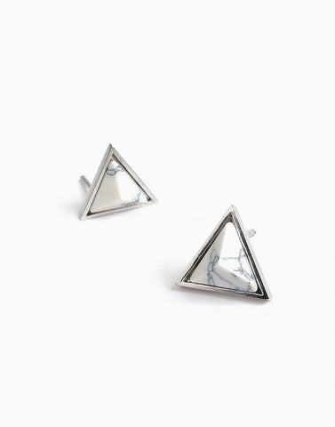 Dusk to Down Marble Studs (Silver)