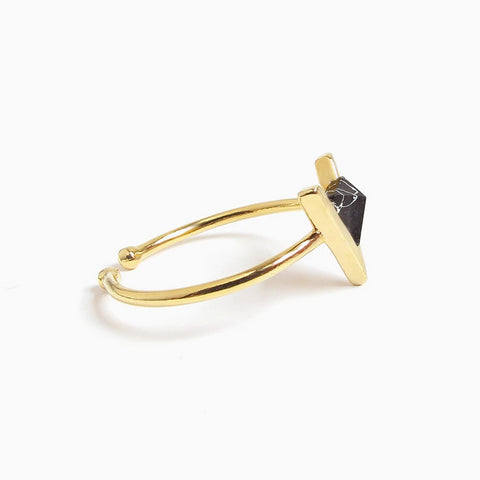 Delta Onyx Open Ring_Benique