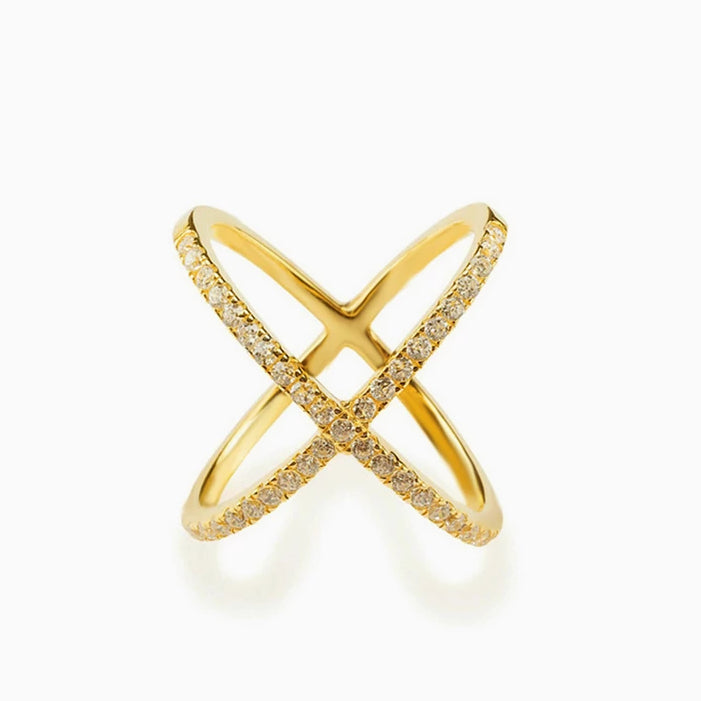 X Marks It Ring (Gold)