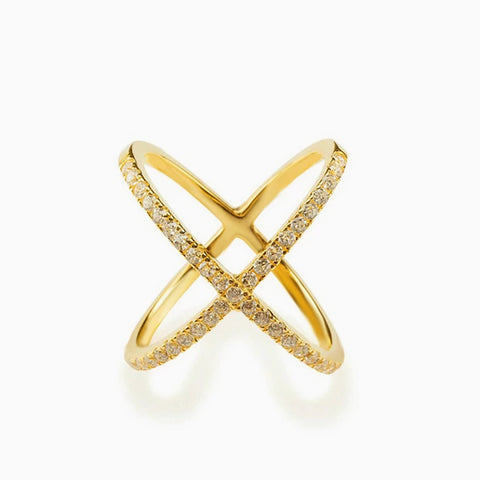 X Marks It Ring (Gold)_Benique