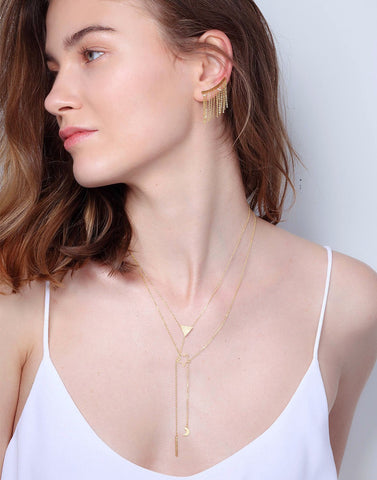 Tri-Bar Lariat Y Necklace