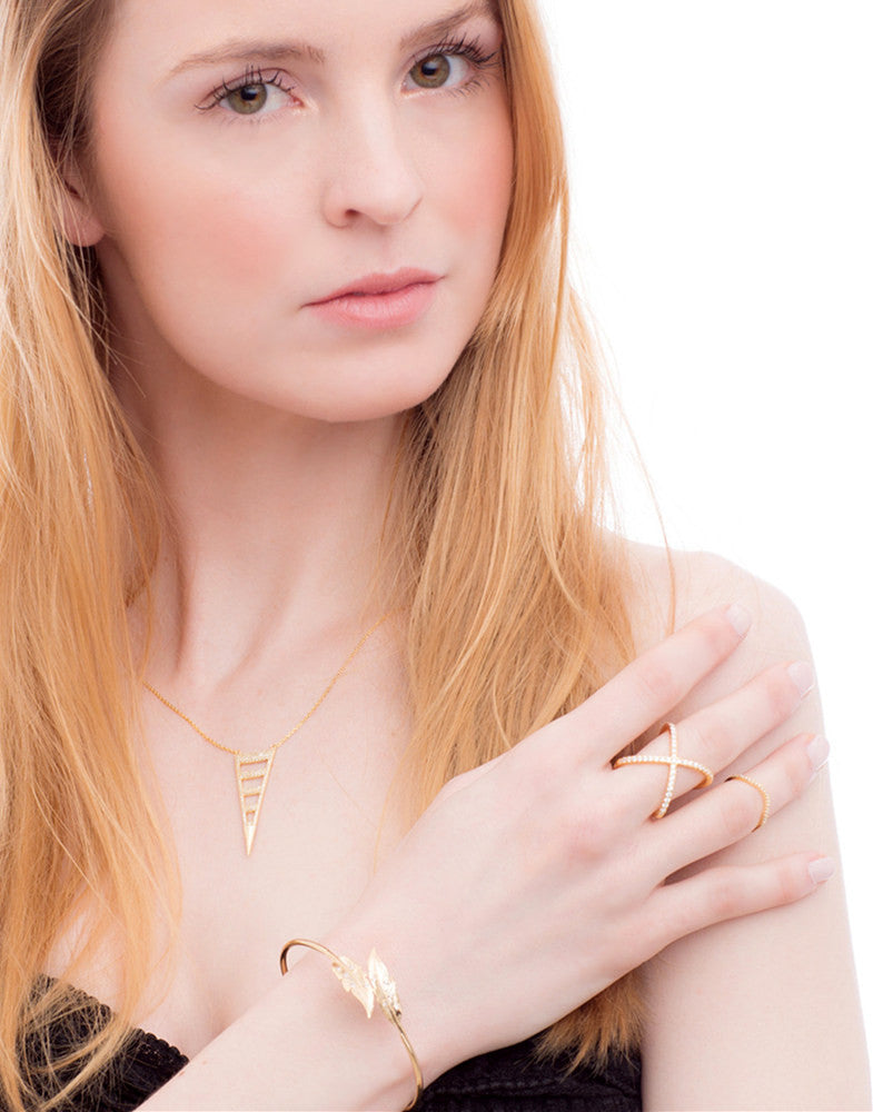 Golden Meadowlark Cuff_Model_Benique