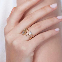 Square Clear Diamond Ring_Model2_Benique