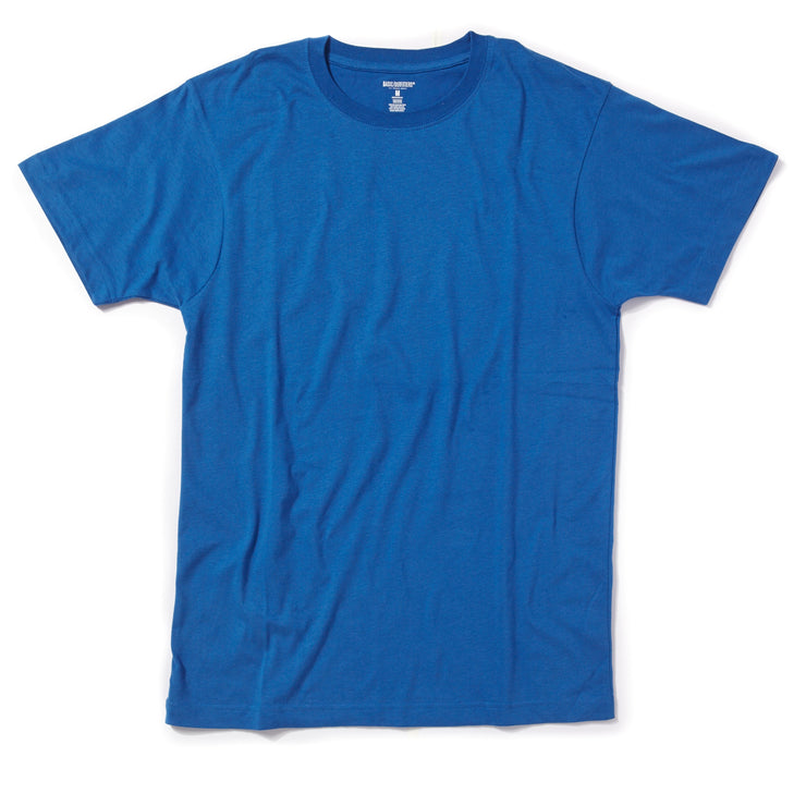 Single Crew-Neck Blue Sueded