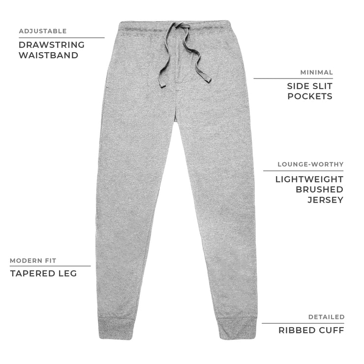 Heather Grey Lightweight Jersey Joggers
