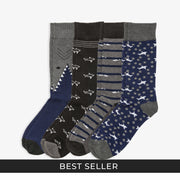 4pk Shark Socks