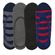4pk Invisible No Show Socks Rugby