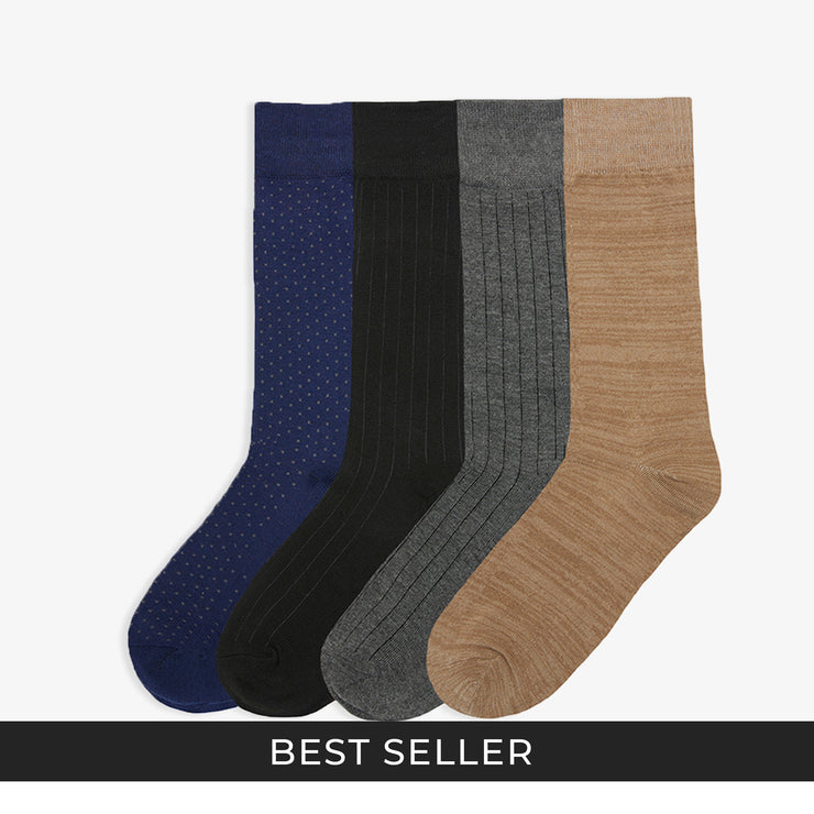 4pk Classic Dress Socks