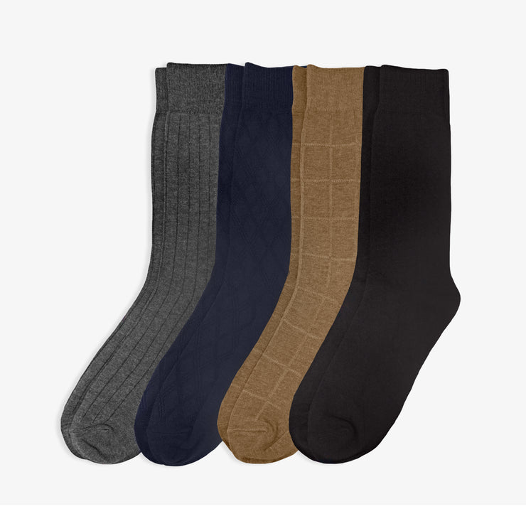 4pk Classic Luxe Dress Socks