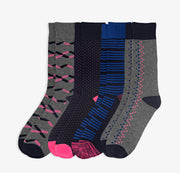 4pk Preppy Midnight Socks