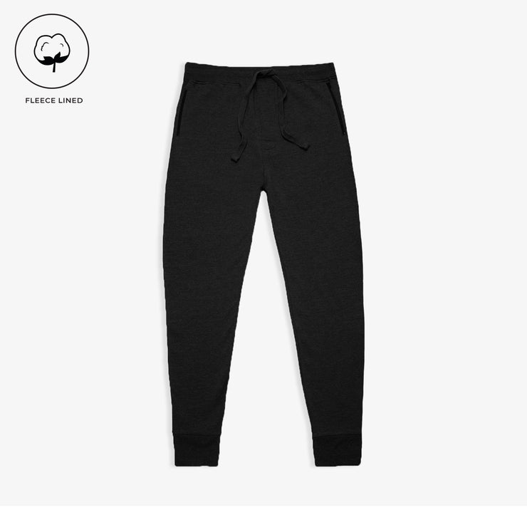 Black Fleece Zip Joggers