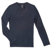 Navy Sueded Jersey Henley