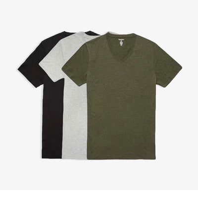 V-Neck Heather Ivy Tees 3pk