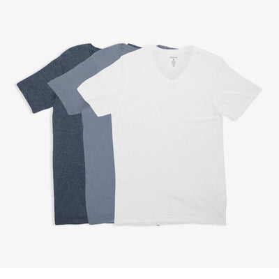 V-Neck Shades of Blue Tees 3pk