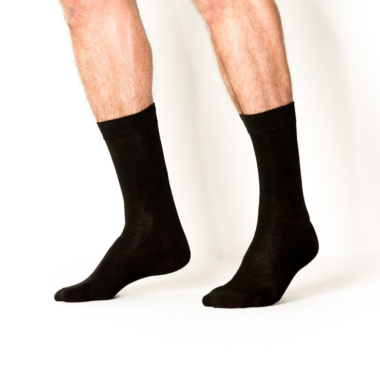 10pk Crew Basic Athletic Black/Grey Socks