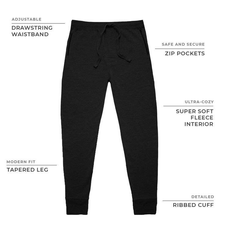 Navy Fleece Zip Joggers
