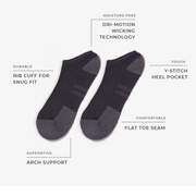 8pk Low Cut Sock Performance Black/Grey/White