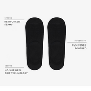 4pk Invisible No-Show Melange Socks