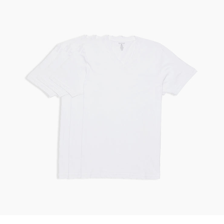 V-Neck White Tees 3pk