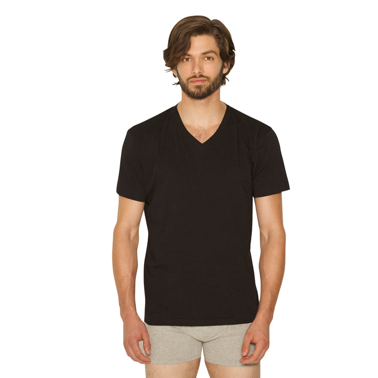 V-Neck Black/Grey Tees 3pk