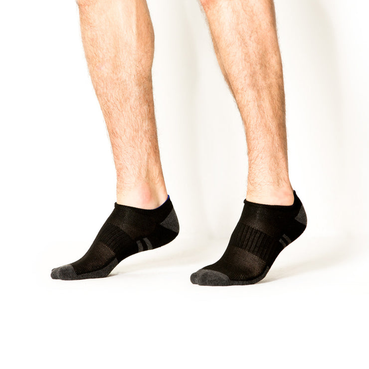 6pk Low Cut Supersoft Black Socks