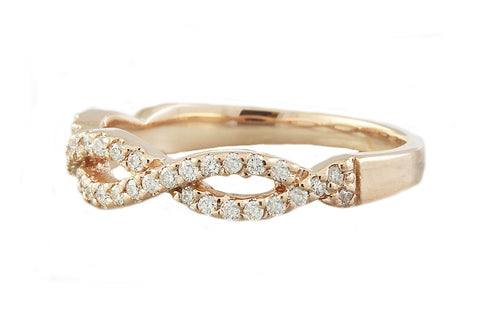 0.38 Carat Natural Diamond 14K Solid Rose Gold Ring