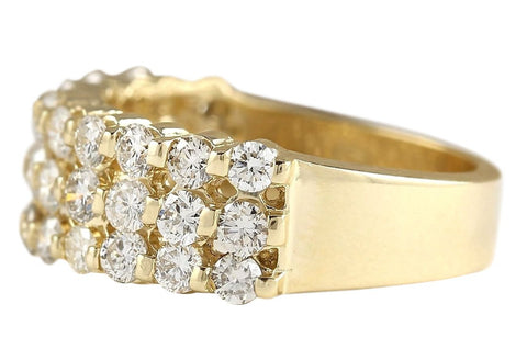 Shop 1.75 Carat Natural Diamond 14K Yellow Gold Ring