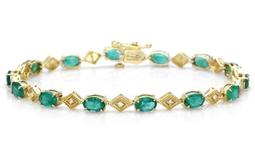emerald bracelet april birthstone
