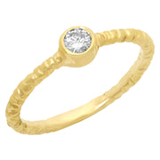 Ladies 0.20 CTW Diamond 14K Yellow Gold Ring - Fashion Strada