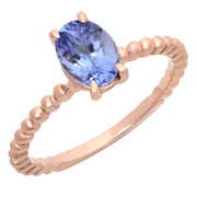 Ladies 1.22 CTW Tanzanite 14K Rose Gold - Fashion Strada