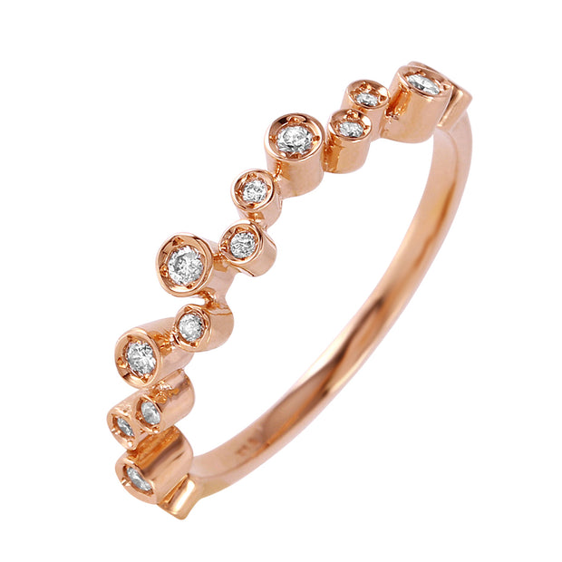 Ladies 0.15CTW Diamond 14K Rose Gold Ring - Fashion Strada