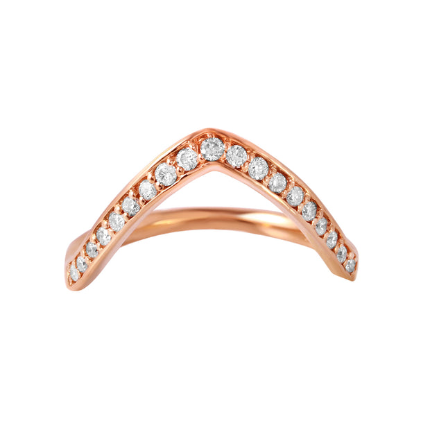 Ladies 0.28CTW Diamond 14K Rose Gold Ring - Fashion Strada