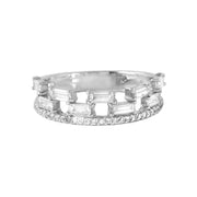 Ladies 0.8CTW Diamond 14K White Gold Ring - Fashion Strada