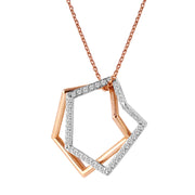 Ladies 0.53CTW Diamond 14K Two tone Gold Necklace - Fashion Strada