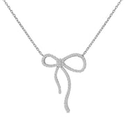 Ladies 0.34CTW Diamond 14K White Gold Necklace - Fashion Strada