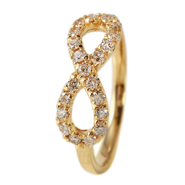 Ladies 0.4CTW Diamond 14K Yellow Gold Ring - Fashion Strada
