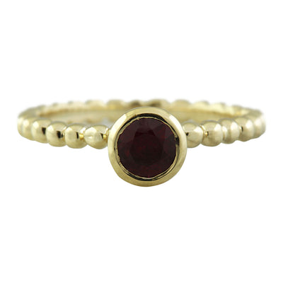 0.40 Carat Ruby 14K Yellow Gold Ring - Fashion Strada