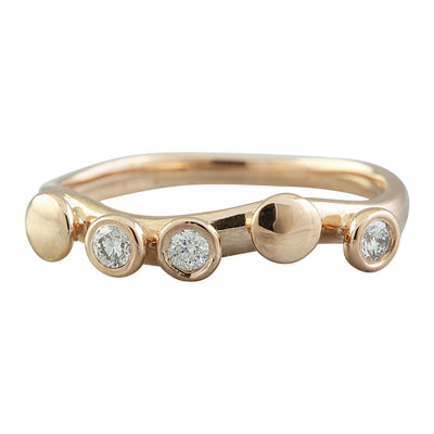 0.15 Carat Natural Diamond 14K Solid Rose Gold Ring