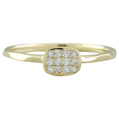 0.12 Carat 14K Yellow Gold Diamond Ring