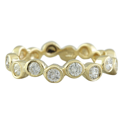 0.55 Carat Natural Diamond 14K Solid Yellow Gold Ring