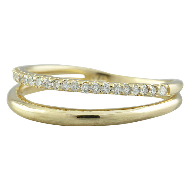 0.25 Carat Natural Diamond 14K Solid Yellow Gold Ring