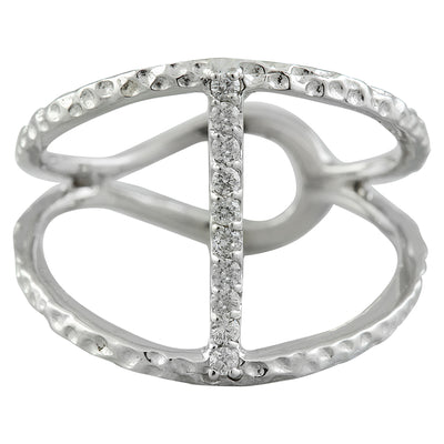 0.10 Carat Natural Diamond 14K Solid White Gold Ring