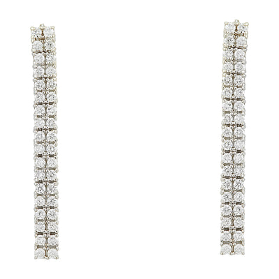 0.80 Carat Diamond 14K White Gold Earrings - Fashion Strada