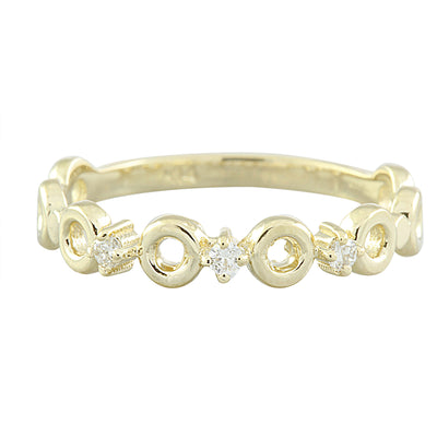 0.07 Carat Diamond 14K Yellow Gold Ring