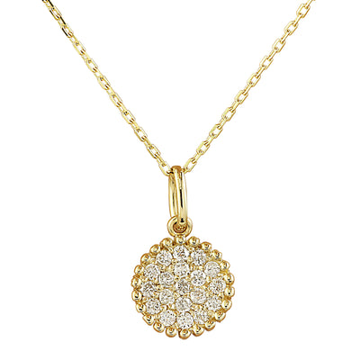 0.22 Carat Natural Diamond 14K Yellow Gold Necklace
