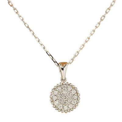 0.22 Carat Natural Diamond 14K White Gold Necklace